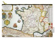 Antique Map Of France Carry-all Pouch