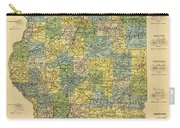 Antique Map Of Indianapolis By The Parry Mfg Company - Historical Map Carry-all Pouch