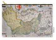 Antique Map Of Ireland Carry-all Pouch by  English School