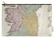 Antique Map Of Ireland Showing The Provinces Carry-all Pouch