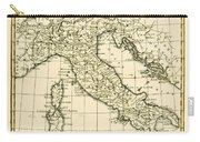 Antique Map Of Italy Carry-all Pouch