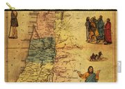 Antique Map Of Palestine 1856 On Worn Parchment Carry-all Pouch