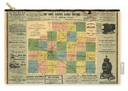 Antique Map Of The Mclean County - Business Advertisements - Historical Map Carry-all Pouch