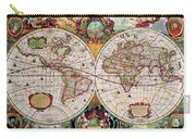Antique Map Of The World - Double Hemisphere Carry-all Pouch