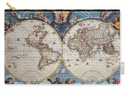 Antique Maps Of The World Joan Blaeu C 1662 Carry-all Pouch