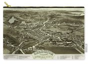 Antique Maps - Old Cartographic Maps - Antique Bird's Eye Map Of Sandwich, Massachusetts, 1884 Carry-all Pouch