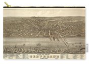 Antique Maps - Old Cartographic Maps - Antique Birds Eye View Map Of Cleveland, Ohio, 1877 Carry-all Pouch