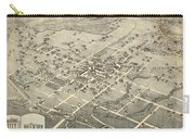 Antique Maps - Old Cartographic Maps - Antique Birds Eye View Map Of Denton, Texas, 1883 Carry-all Pouch