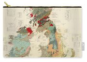 Antique Maps - Old Cartographic Maps - Antique Geological Map Of The British Islands Carry-all Pouch