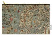 Antique Maps - Old Cartographic Maps - Antique Map Of Scandinavia In Latin, 1539 Carry-all Pouch
