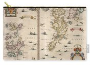 Antique Maps - Old Cartographic Maps - Antique Map Of Schetland And Orkney Islands - Scotland,1654 Carry-all Pouch