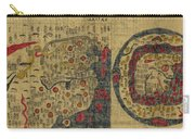 Antique Maps - Old Cartographic Maps - Antique Map Chinese Map Of The World, Ming Era Carry-all Pouch