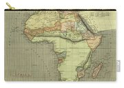 Antique Maps - Old Cartographic Maps - Antique Map Of Africa Carry-all Pouch