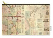 Antique Maps - Old Cartographic Maps - Antique Map Of Lawrence And Beaver Counties, 1860 Carry-all Pouch