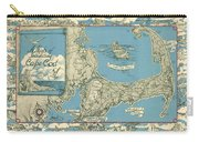 Antique Maps - Old Cartographic Maps - Antique Map Of Cape Cod, Massachusetts, 1945 Carry-all Pouch