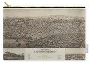 Antique Maps - Old Cartographic Maps - Antique Map Of Ciudad, Mexico, 1890 Carry-all Pouch
