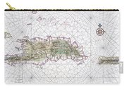 Antique Maps - Old Cartographic Maps - Antique Map Of Hispaniola - Caribbean Island Carry-all Pouch
