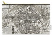 Antique Maps - Old Cartographic Maps - Antique Map Of Paris, France, 1643 Carry-all Pouch