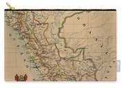 Antique Maps - Old Cartographic Maps - Antique Map Of Peru, South America, 1913 Carry-all Pouch