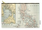 Antique Maps - Old Cartographic Maps - Antique Map Of Philippine Islands And Manila Bay, 1898 Carry-all Pouch
