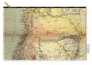 Antique Maps - Old Cartographic Maps - Antique Map Of Syria, 1884 Carry-all Pouch