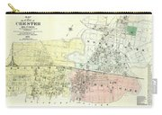 Antique Maps - Old Cartographic Maps - Antique Map Of The City Of Chester, England, 1870 Carry-all Pouch