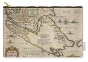 Antique Maps - Old Cartographic Maps - Antique Map Of The Strait Of Magellan, South America, 1635 Carry-all Pouch