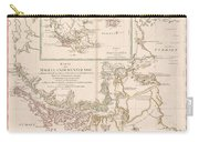 Antique Maps - Old Cartographic Maps - Antique Map Of The Strait Of Magellan, South America, 1787 Carry-all Pouch