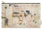 Antique Maps - Old Cartographic Maps - Antique Map Of The World, 1502 Carry-all Pouch