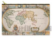 Antique Maps - Old Cartographic Maps - Antique Map Of The World Carry-all Pouch
