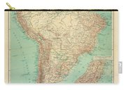 Antique Maps - Old Cartographic Maps - Antique Russian Map Of South America Carry-all Pouch