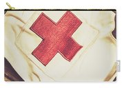 Antique Nurses Hat With Red Cross Emblem Carry-all Pouch