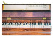 Antique Piano And Music Sheet Carry-all Pouch