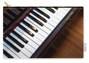 Antique Piano Keys From Above With Hardwood Floor Carry-all Pouch