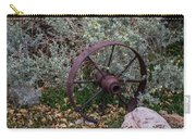 Antique Steel Wagon Wheel Carry-all Pouch