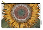 Antique Sunflower Print Carry-all Pouch