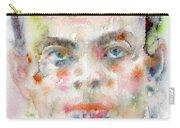 Antoine De Saint-exupery - Watercolor Portrait.2 Carry-all Pouch