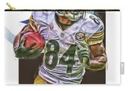 Antonio Brown Pittsburgh Steelers Oil Art 4  Carry-all Pouch