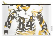 Antonio Brown Pittsburgh Steelers Pixel Art 17 Carry-all Pouch