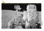 Apollo 16 Astronaut Reaches For Tools Carry-all Pouch