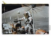 Apollo 17 Astronaut Approaches Carry-all Pouch