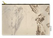 Apollo And Studies Of The Artist's Own Hand [recto] Carry-all Pouch