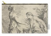 Apollo And The Cumaean Sibyl Carry-all Pouch