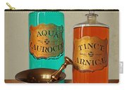 Apothecary Bottles And Brass Pestle And Mortar Carry-all Pouch