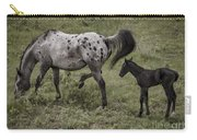 Appaloosa And Baby Carry-all Pouch