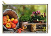 Apple Basket And Other Objects Still Life L B With Alt. Decorative Ornate Printed Frame. Carry-all Pouch