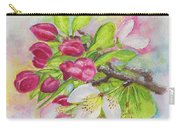Apple Blossom Buds On A Greeting Card Carry-all Pouch