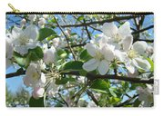 Apple Blossoms Art Prints 60 Spring Apple Tree Blossoms Blue Sky Landscape Carry-all Pouch