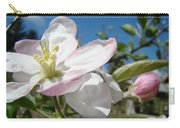 Apple Blossoms Art Prints Canvas Blue Sky Pink White Blossoms Carry-all Pouch