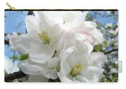 Apple Blossoms Art Prints Giclee 48 Spring Apple Tree Blossoms Blue Sky Macro Flowers Carry-all Pouch
